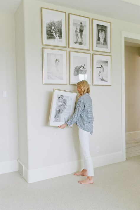 How to hang a gallery wall home pinterest how to for Hanging frames on walls
