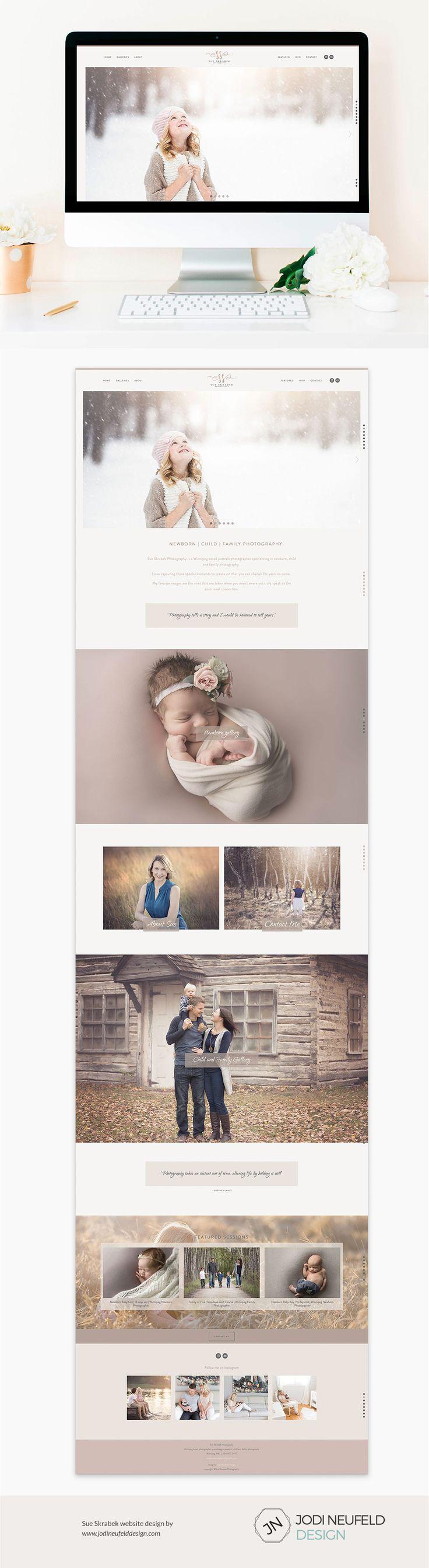 Sue Skrabek photography | Squarespace website by Jodi Neufeld Design