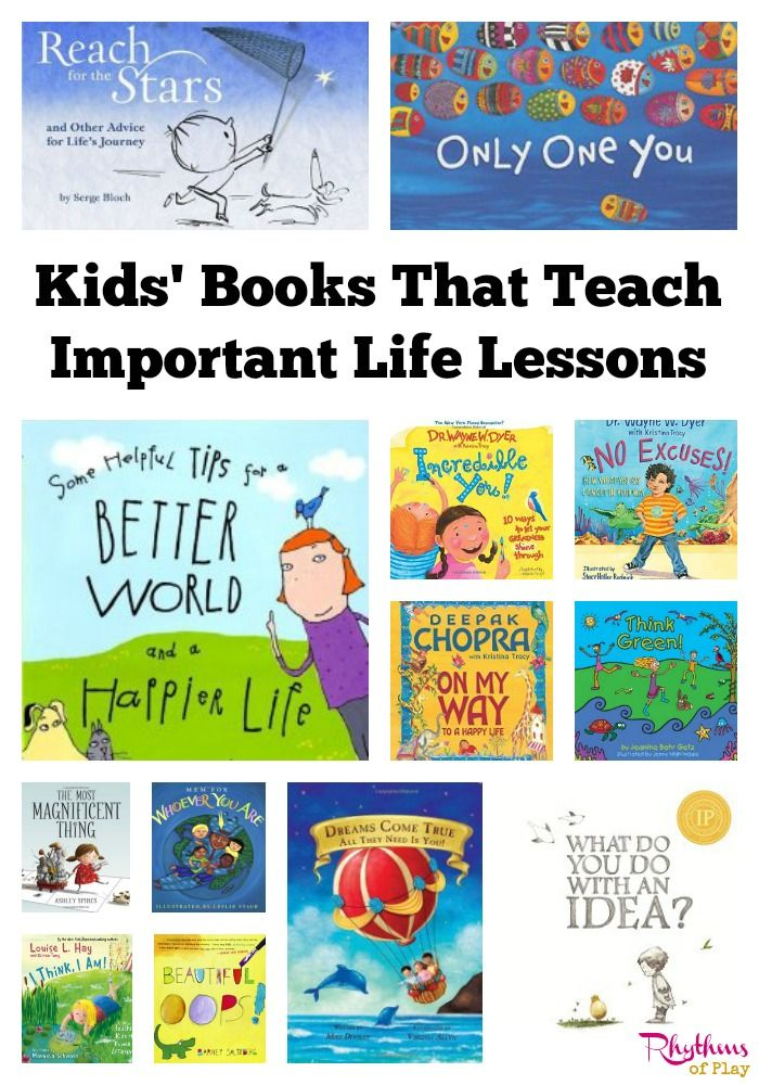 Kids Books That Teach Important Life Lessons via @rhythmsofplay