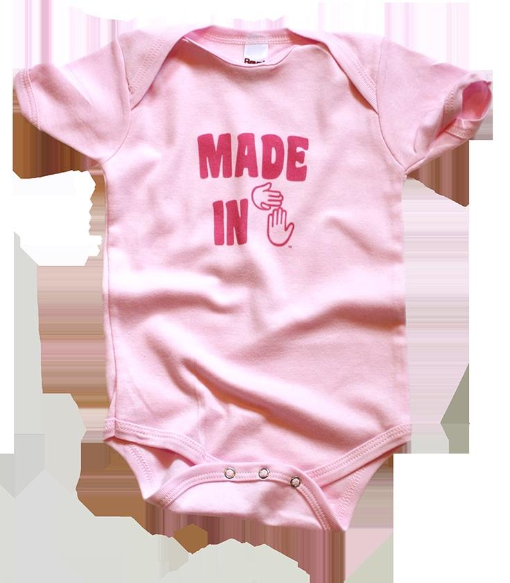 """""""Made in MI"""" Onesie - PinkPink, Onesies, Products"""
