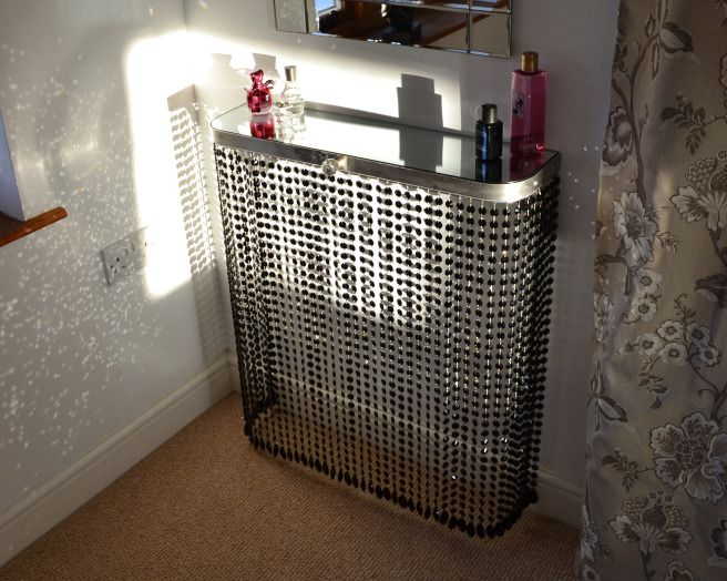 Photo Of Classic Contemporary Crystal Glass Couture Cases Bedroom With  Chandelier Mirror Mirrors Radiator Covers And. Bedside TablesConsole ...
