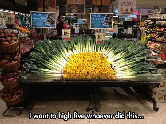 Great Artistic Displays At The Grocery Store