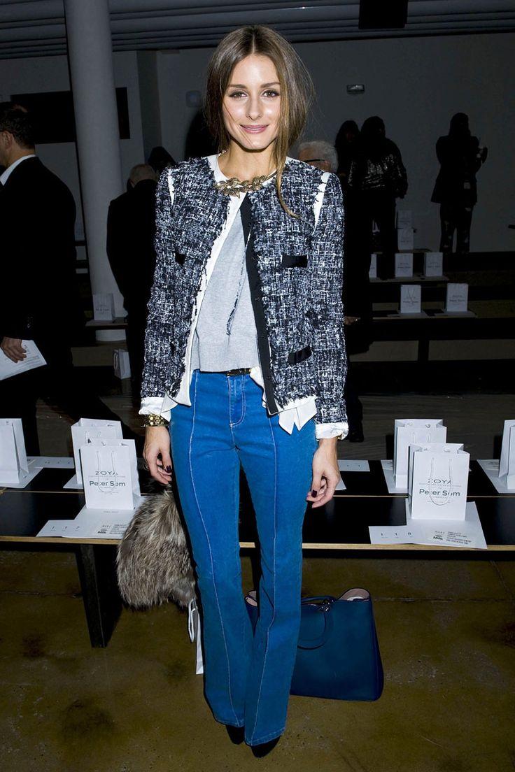 shopping y looks de oficina inspirados en las celebrities: Olivia Palermo con chaqueta de tweed