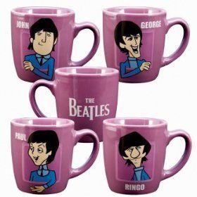 the beatles mugs...love love love love love love!!!!! I want one set of 4 pleaseeeeeeeee!