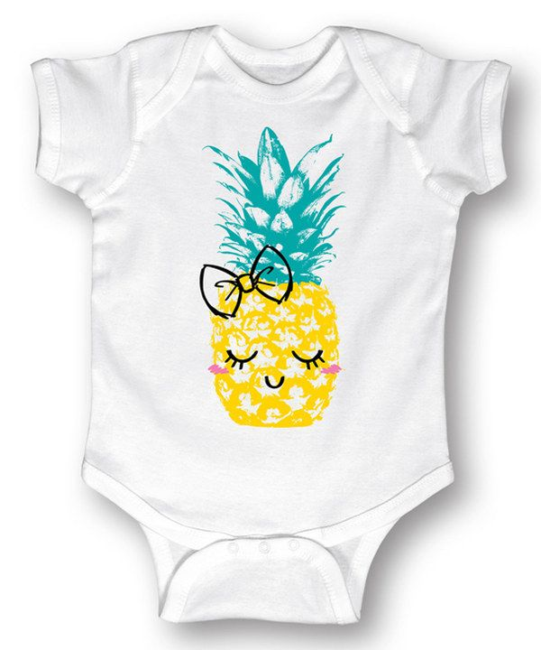 Look at this White Pineapple Bodysuit - Infant on #zulily today!