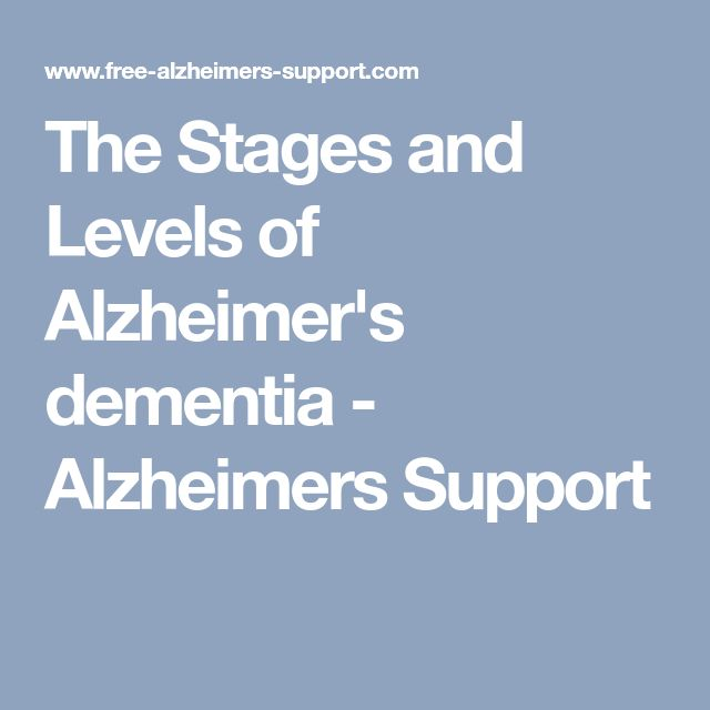 The Stages and Levels of Alzheimer's dementia - Alzheimers Support