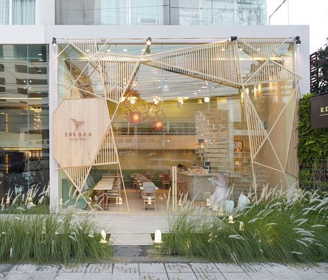 <p>All you can get is desserts! The Bangkok bar Shugaa clean and light interior design was signed by Design agency ' party / space / design ' (aka p/s/d). The dessert bar interior was insp