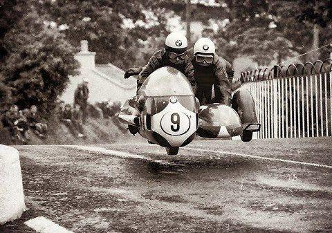 Arsenius Butscher,1970TT, 500cc race.Sidecar racer…