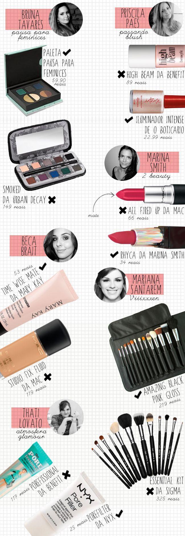 Produtos baratinhos indicados pelas blogueiras! http://sougarotaproblema.blogspot.com.br/2014/01/produtos-baratinhos-indicados-pelas.html