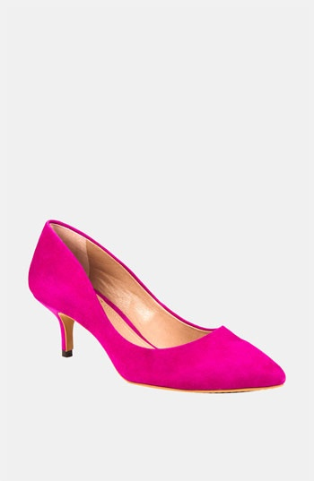 Vince Camuto 'Goldie' Pump: Pumps Lov, Fashion Shoes, Hot Pink Pumps, Shoes Fashion, Pink Heels, Camuto Pumps, Pink Suede, Hot Pink Kittens Heels, Pumps Pink