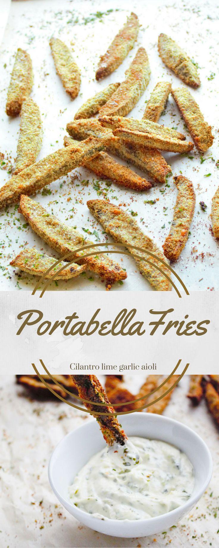 Healthy baked fries, mushrooms, portobello, Parmesan, garlic, veggie fries, crispy baked fries