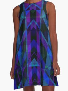 Triangular Purple Plaid A-Line Dress  by Scar Design #summerclothing #summervacationsdress #beachdress #beach #summerfashion #giftsforher #gifts #giftsforteens #summergifts #womensfashion #hipster #colorful #style #swag #sunset #sunsetdress #dress #summer