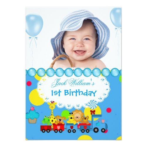birthday invitation card for baby boy