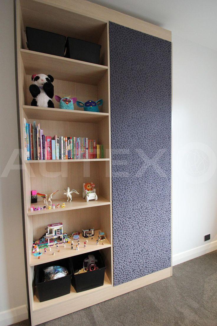 Autex Interior Acoustics - Etch™ - Burst - Colour: Blush - Direct fixed to revolving bookshelf