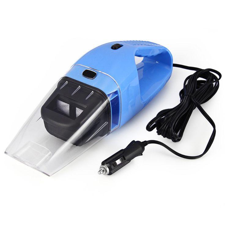 Praktische Auto Staubsauger 12 V 120 Watt Handheld Wet Dry Dual-use-Staub-reiniger für Auto Supersaugen blau Staub-reiniger Catcher