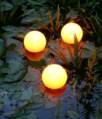 swimming solar lamps