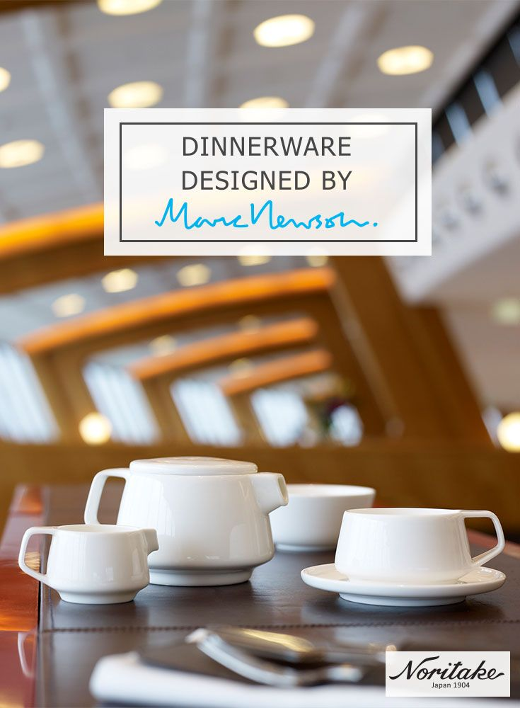 Created by Australia's world famous designer, Marc Newson, for Qantas International First and Business, all items have been manufactured by Noritake to the highest standards from the finest bone china.