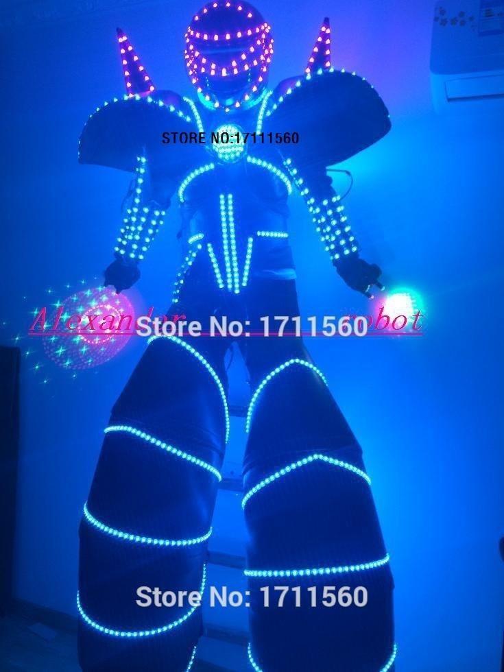 LED robot /led lights costumes/LED Clothing/Light suits/ LED Robot suits