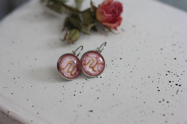 Monogram earrings gift letter M Initial Earrings Monogram Birthday toddler girls gifts Personalized earrings with name personalized earring