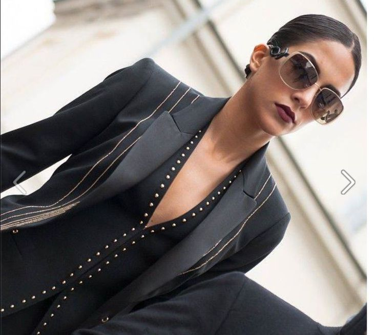 Spanish actress, model and TV presenter Rocio Munoz Morales wearing Roberto Cavalli Eyewear (RC 910S) while in Milan, as seen on Rendez Vous de la Mode: