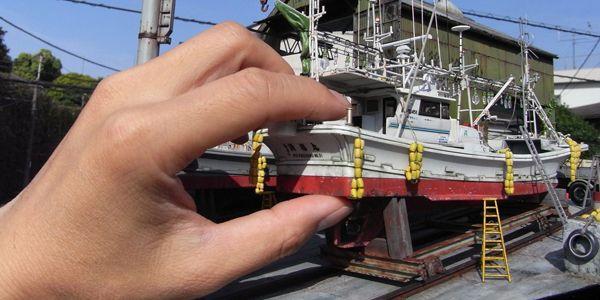 Kapal miniatur ini sangat detail
