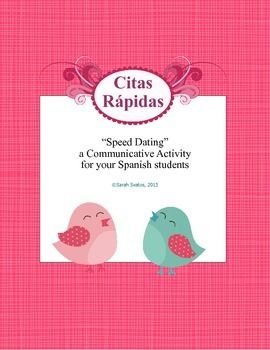 Speed dating ideas for spanish class