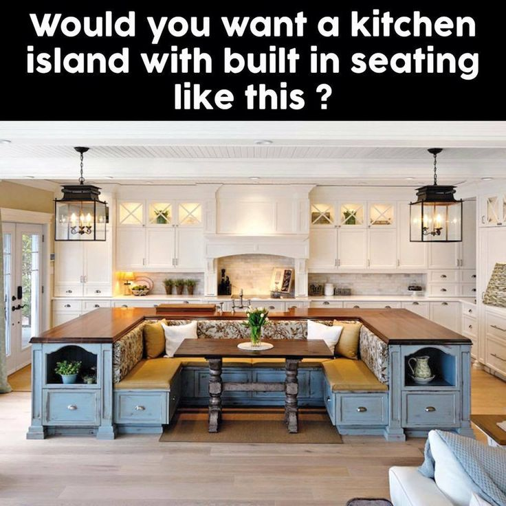 Farmhouse Kitchen Island With Seating: 485 Best Images About Dream Home On Pinterest