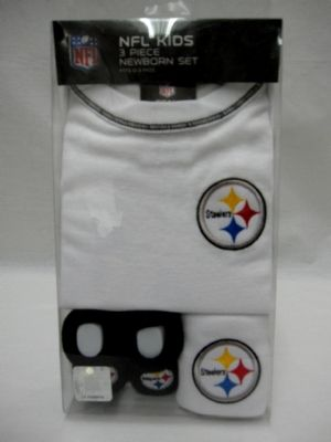 steelers merchandise pittsburgh steelers creepers booties bibs - Pittsburgh Steelers Merchandise
