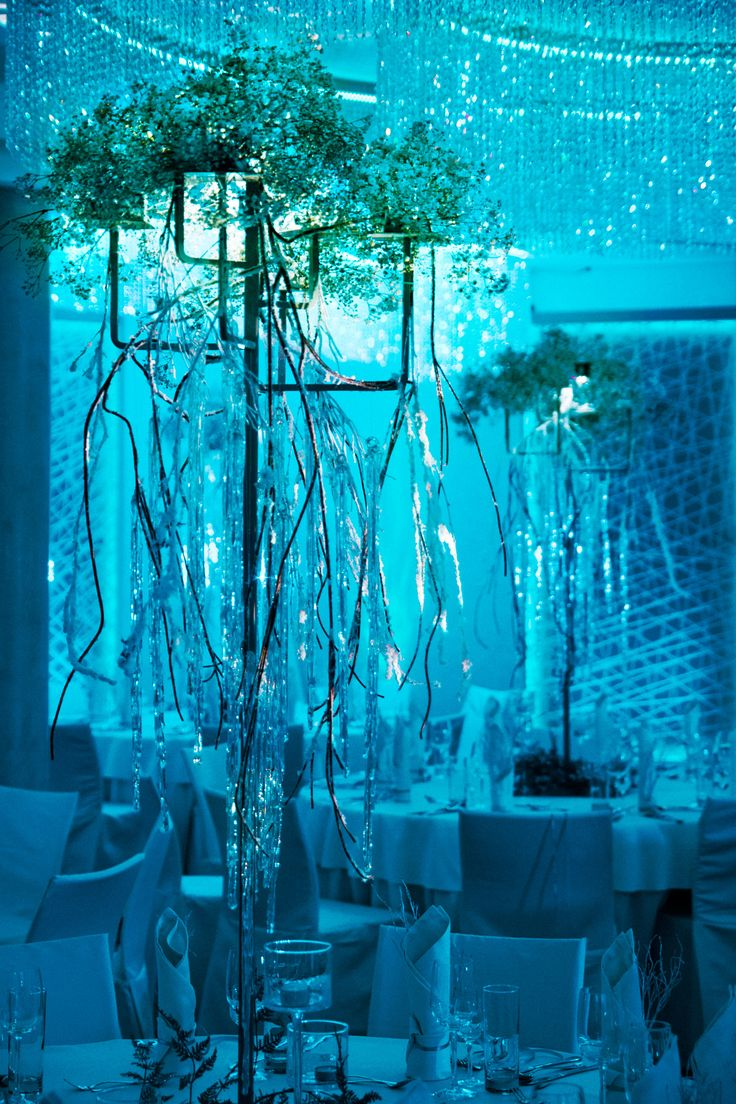 Iced wedding centerpiece by artsize.pl