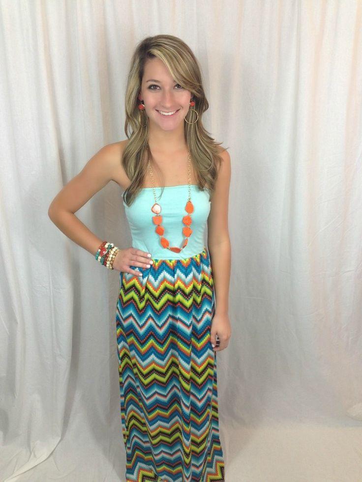 Mint Aztec Maxi Dress