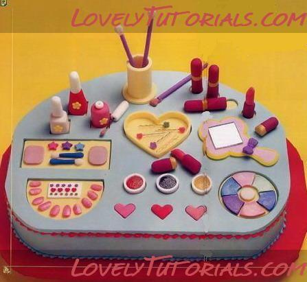 Make up cake decoration tutorial
