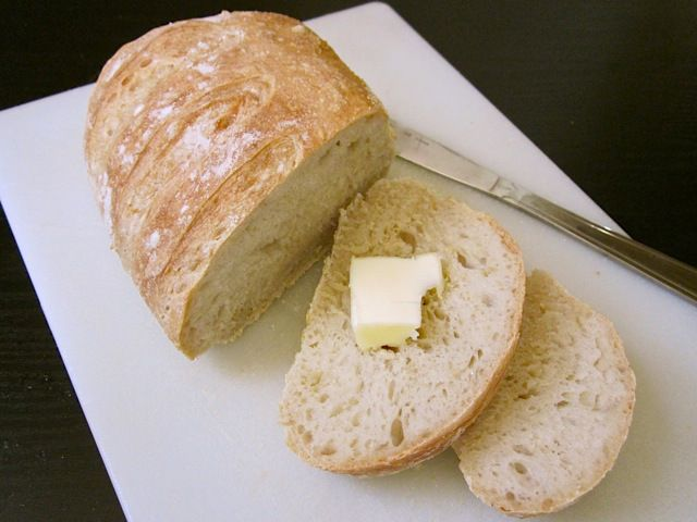 No knead bread takes little more than five minutes of work and the dough does the rest of the work itself as it rises.