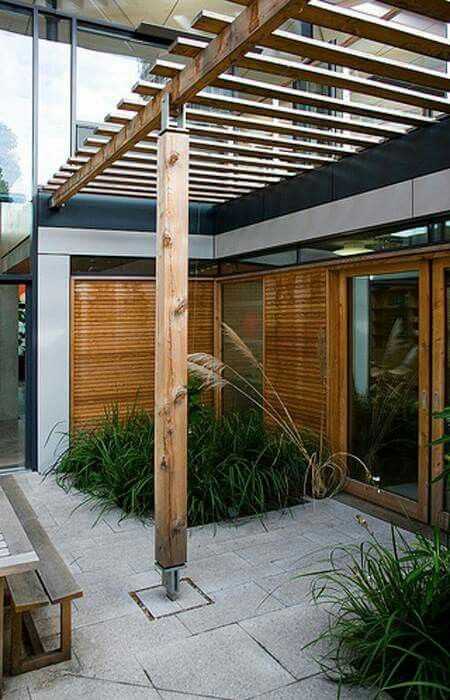 Flawless 25 Best Modern Pergola Designs Gallery Inspiration https://decorisme.co/2017/09/28/25-best-modern-pergola-designs-gallery-inspiration/ The pergola is joined to the raised deck on the rear door as is made from solid wood construction. Just like the prior example, this pergola was constructed onto the current railings employing the very same type and finish of wood to blend seamlessly with the current design.