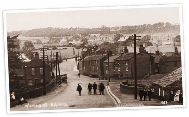 Worsbourgh Bridge, Barnsley. This was taken a long time before the cricket/rugby ground was built. All the fields in the background have bungalows on now.