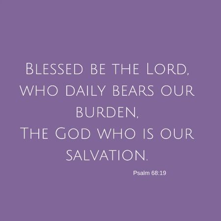 Thoughts on Psalm 68:19 and laying my infertility burden down.