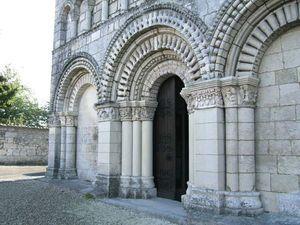 eglise romane de Saint Fort sur Gironde. Poitou-Charentes