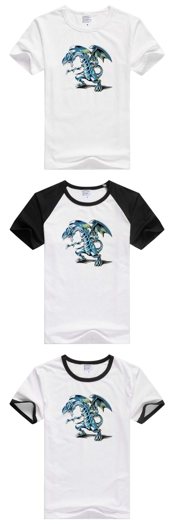 Blue-Eyes White Dragon Duel Monsters YuGiOh Game Anime short sleeve casual Men/Women T-shirt Tshirt Cool Print tee GA376