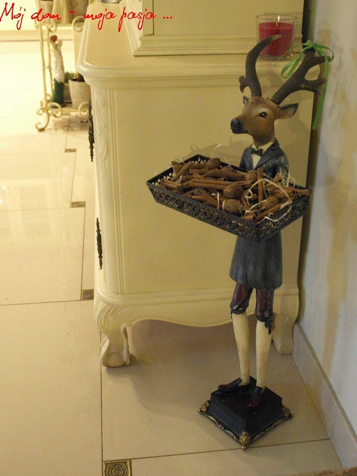 kitchen, christmas decor, deer, schabby chic, retro , vintage, beige