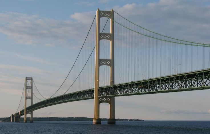 The Mackinaw Bridge - gateway to the upper peninsula and one of the most beautiful parts of Michigan