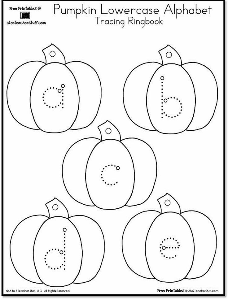 {free} pumpkin uppercase and lowercase alphabet tracing ...