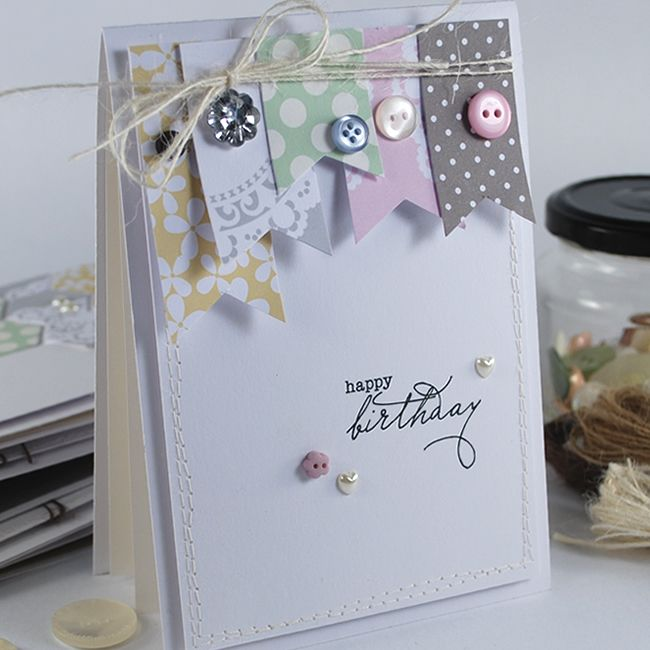 'Happy Birthday' Sentiments & paper designs from The Colour Collection.