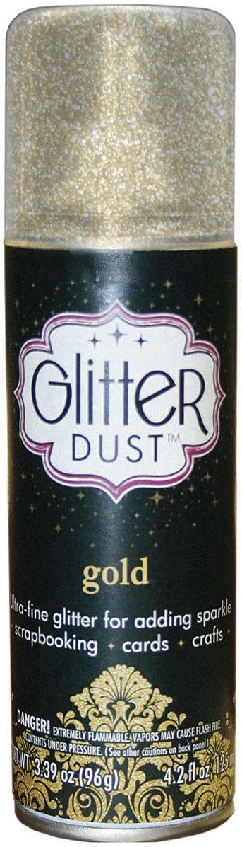 Glitter Dust Aerosol Spray 4.2oz-Gold