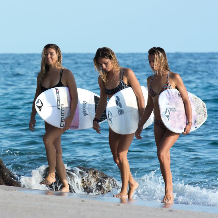 Grab your girls and celebrate #InternationalSurfingDay together! Coco Ho Quincy Davis Maud Le Car