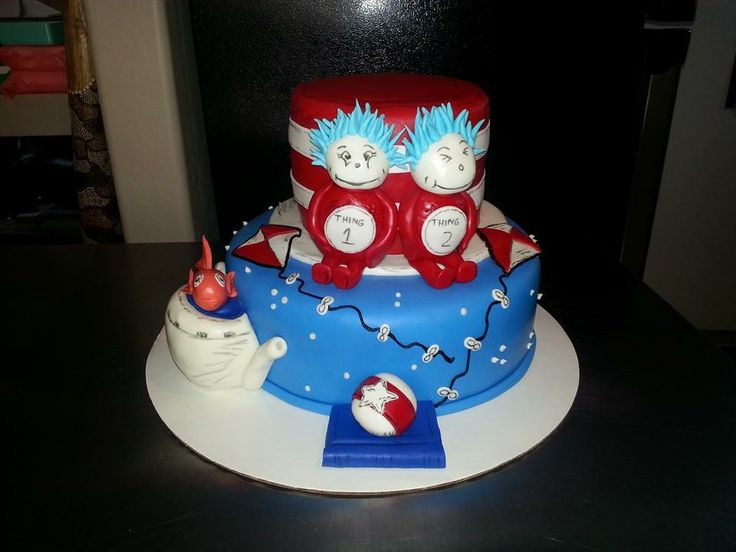 Cat And The Hat Baby Shower Cakes