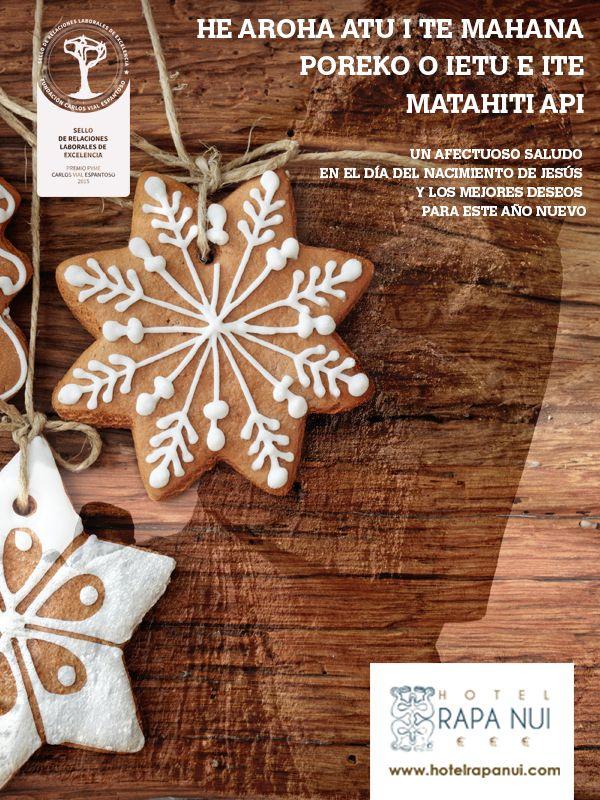 El equipo de Hotel Rapa Nui les desea unas felices fiestas de fin de año y toda la prosperidad en el año que se aproxima. ¡¡Felicidades!!