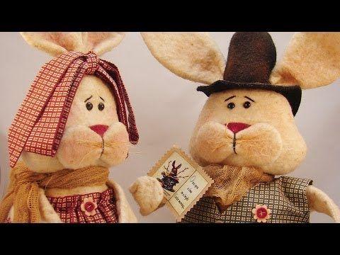 Примитивная кукла (комплект) Мистер и Миссис Купер-HandWorkDecor - Интернет-магазин декора интерьера в стиле Шале и Кантри