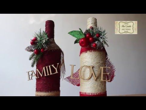 DIY Como decorar botellas de vino (1/2). Los Hobbies de Yola - YouTube