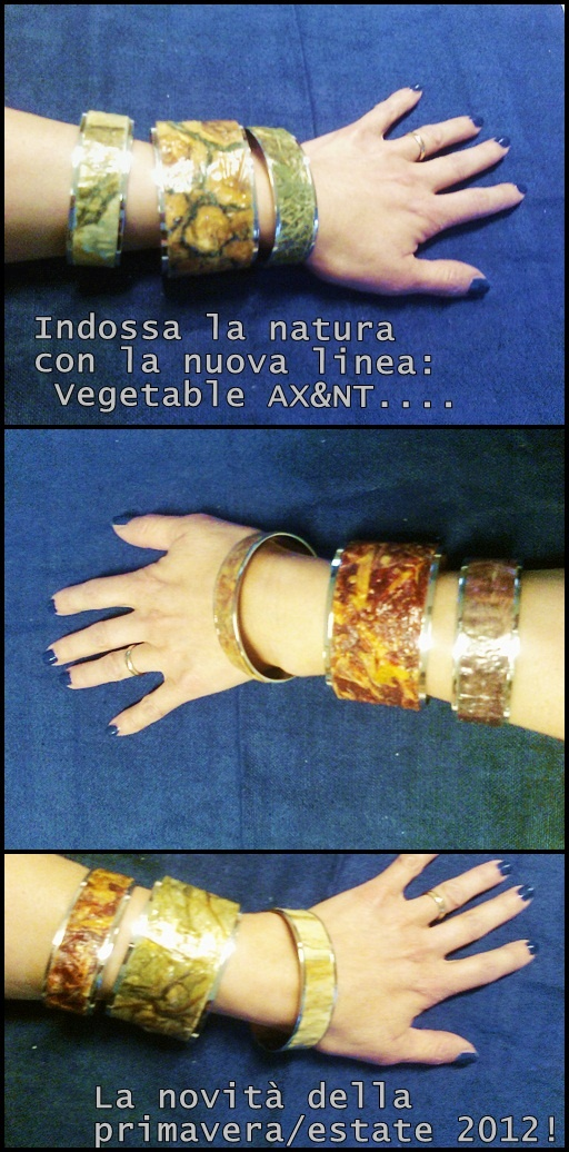 A new collection of bracelets made from silver & vegetable skin!