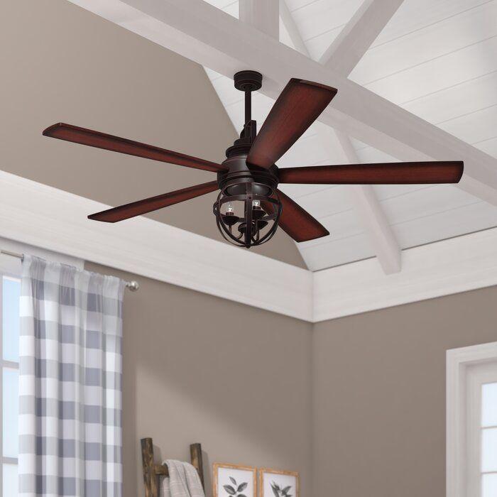 gracie oaks 52 genna 5 blade led ceiling fan with remote reviews wayfair caged fanimation odyn 64
