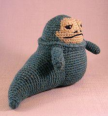 Jabba the Hutt (Lucyravenscar (Angry Angel)) Tags: toy starwars pattern princess crochet softies tiny scifi jabba amigurumi leia crumb slave hutt salacious vision:outdoor=0856